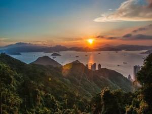 Amanecer en Hong Kong