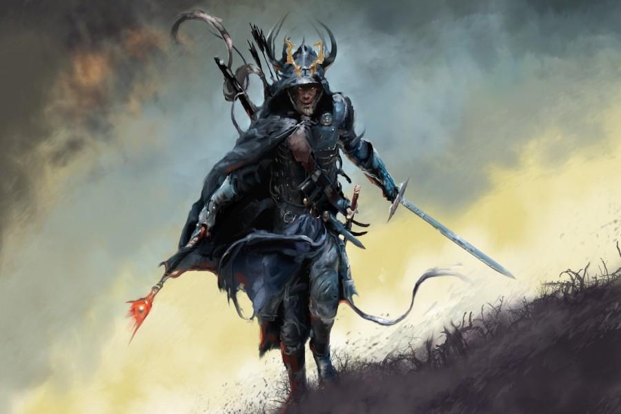 Guerrero con armadura y espada