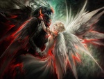 Amor entre un ángel blanco y un ángel negro