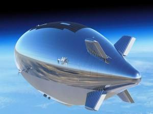 Dirigible en la estratosfera