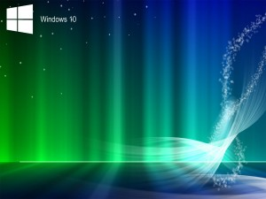 Windows 10 en un fondo de colores