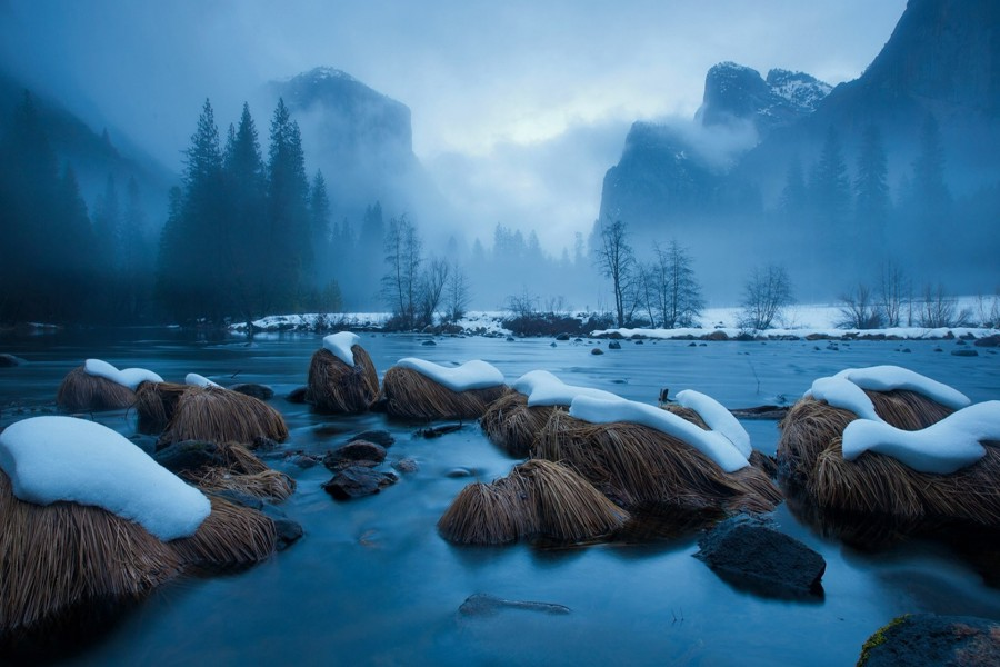Hermoso lugar nevado