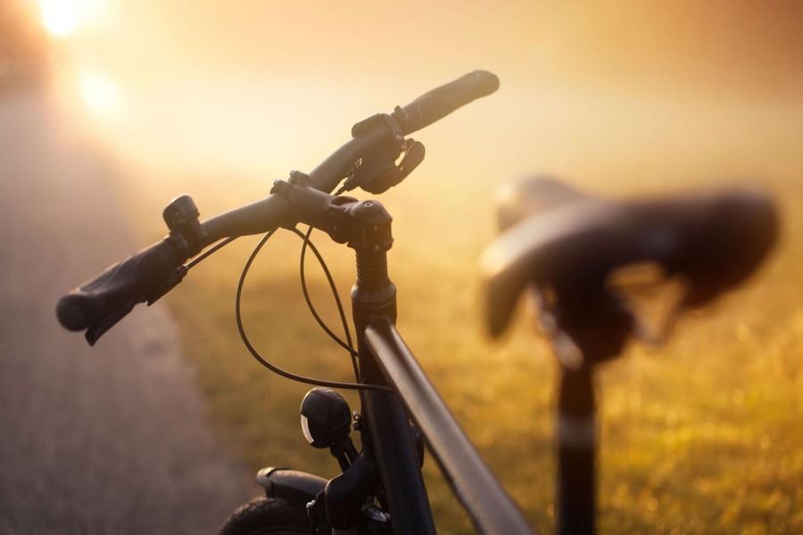 Bicicleta iluminada por el sol