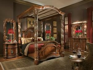 Un clásico dormitorio rococó