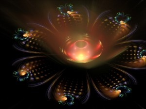 Flor abstracta iluminada