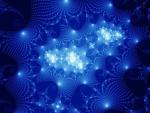Imagen abstracta con luces azuladas
