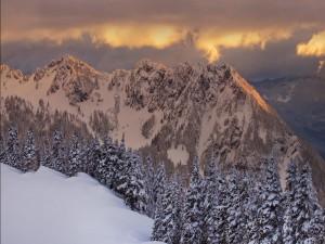 Nieve en las montañas