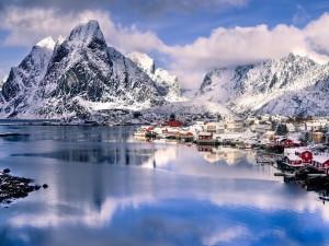 Invierno en Reine (Noruega)