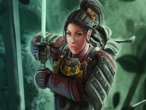 Guerrera samurái