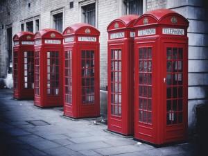 Cabinas de teléfono en Londres