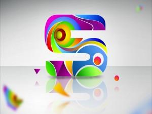 Letra S de llamativos colores