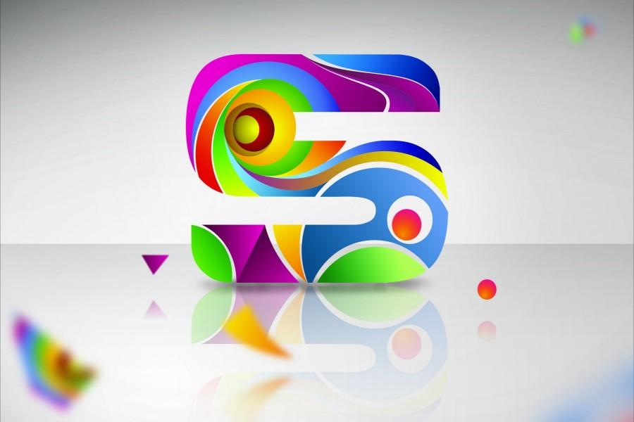 Letra s de llamativos colores 67327 - Colores llamativos ...