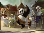 """Secuencia de la película de animación """"Kung Fu Panda"""""""