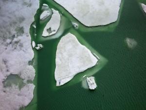 Vista aérea de unos iceberg