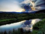 Gran nube tapando al sol