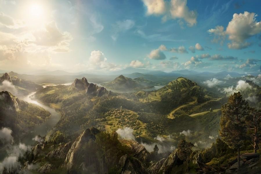Hermosas vistas desde la montaña