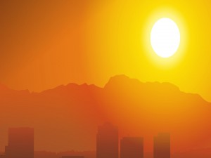 Gran sol iluminando el paisaje