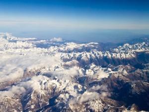Vista aérea de las montañas