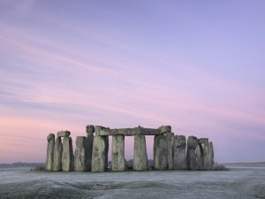 Stonehenge visto al amanecer