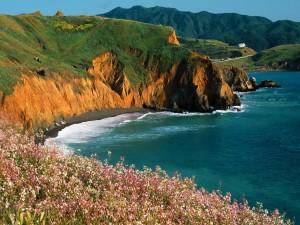 Bonita costa junto al mar