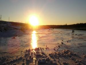 Sol calentando el hielo