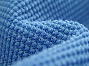 Tejido de color azul