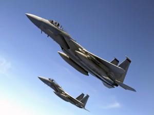Aviones cargados con misiles