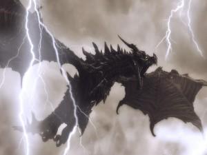 Relámpagos sobre un dragón enfurecido