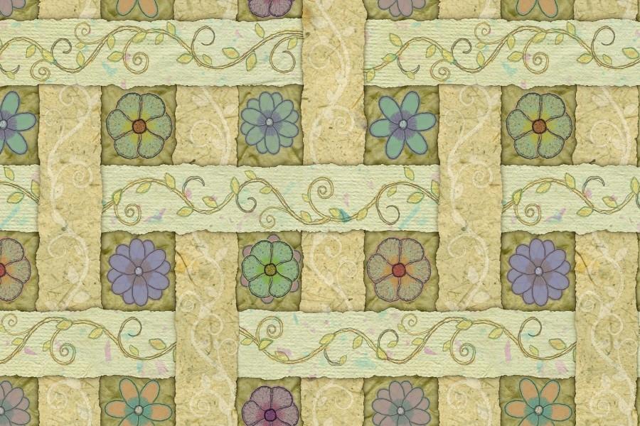 Flores pintadas en un papel
