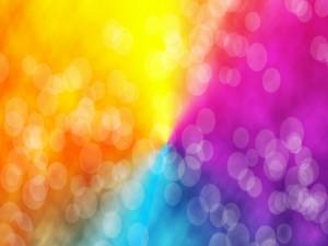 Círculos translúcidos en un fondo de colores