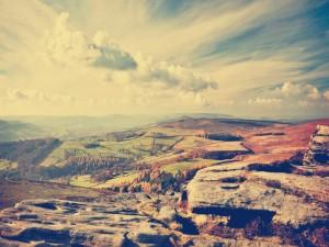 Vistas de un paisaje otoñal