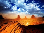 Bonita vista de Monument Valley