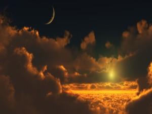 Sol y luna en el mismo cielo