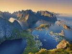 Islas Lofoten situadas en la provincia de Nordland, Noruega