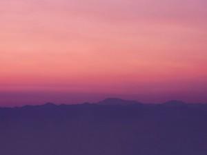 Matices increíbles de la puesta del sol