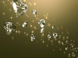 Diamantes en forma de corazón