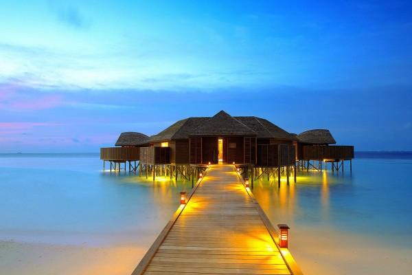 Romántico bungalow en el mar