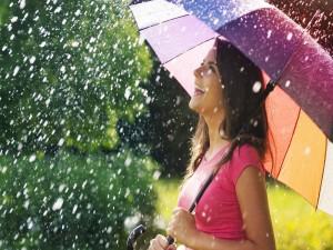 Disfrutando bajo la lluvia