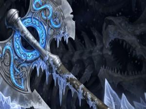 Hacha de plata congelada
