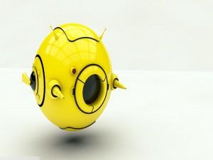 Drone amarillo