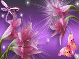 Lirios rosados