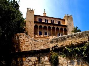 Vista del Palacio Real de La Almudaina (Palma de Mallorca,  España)
