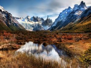 Montañas a finales de otoño