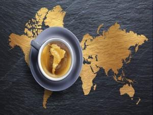 América del Sur en una taza de café