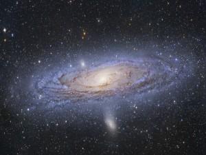 Observando la galaxia de Andrómeda