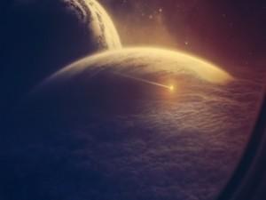 Nubes sobre dos planetas