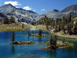 Isletas en el lago