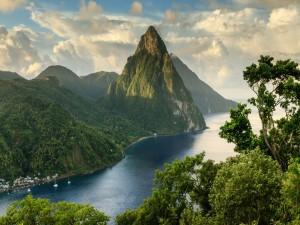 Montañas Pitons (isla de Santa Lucía)