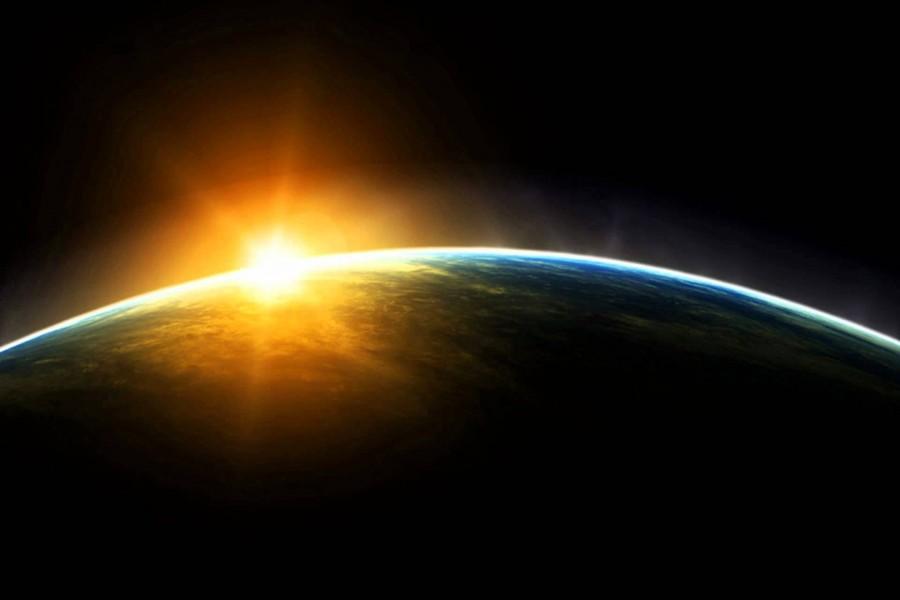 El sol sobre la Tierra