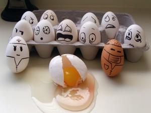 Huevos con personalidad